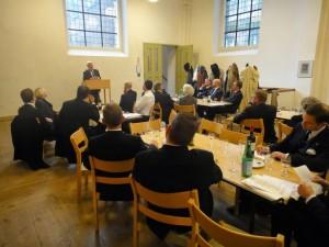 Herbert von Bose taler for medlemmer af Johanniterordenen, Christian V's Sal, Skt. Petri Kirke.