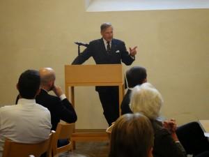 Dietrich von Hülsen taler om Johanniterordenens historiske karakter.