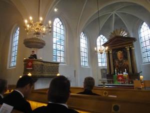 Johanniter-gudstjeneste i Skt. Petri kirke, v/ kirkens pastor Peter Krogull